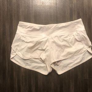 White Lululemon speed shorts size 6